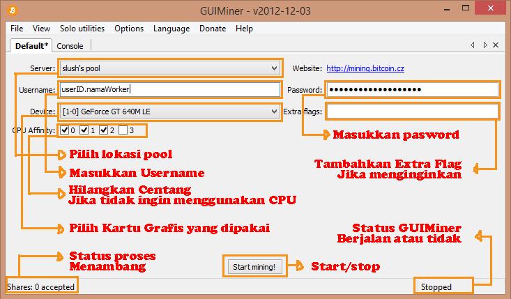 Cara Menambang Bitcoin dengan GPU - GUIMiner