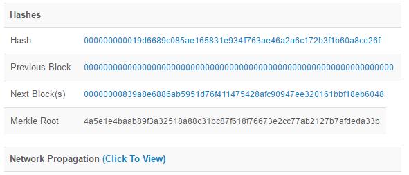 hash genesis block