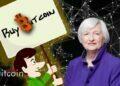 Poster Beli Bitcoin Di Belakang Janet Yellen, 3 Detik Christian Langalis Menjadi Tenar